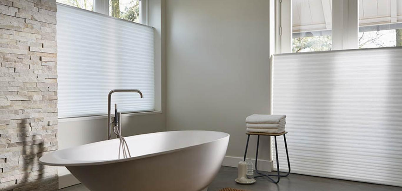 Cortinas Duette Top Down Bottom Up Blancas Baño